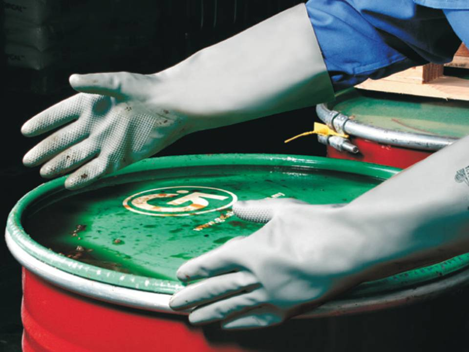 Neopren, Latex, PVC Chemikalien Handschuhe