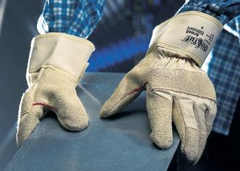 Stoff-Lederhandschuhe
